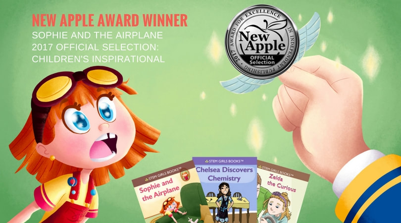 New Apple Award: STEM Girls Books Sophie and the Airplane