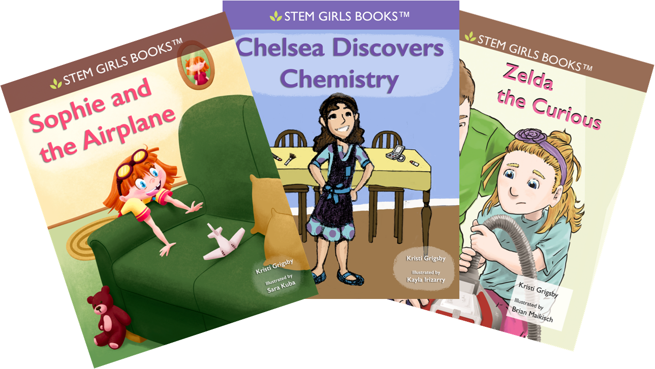 STEM Girls Books Three Covers